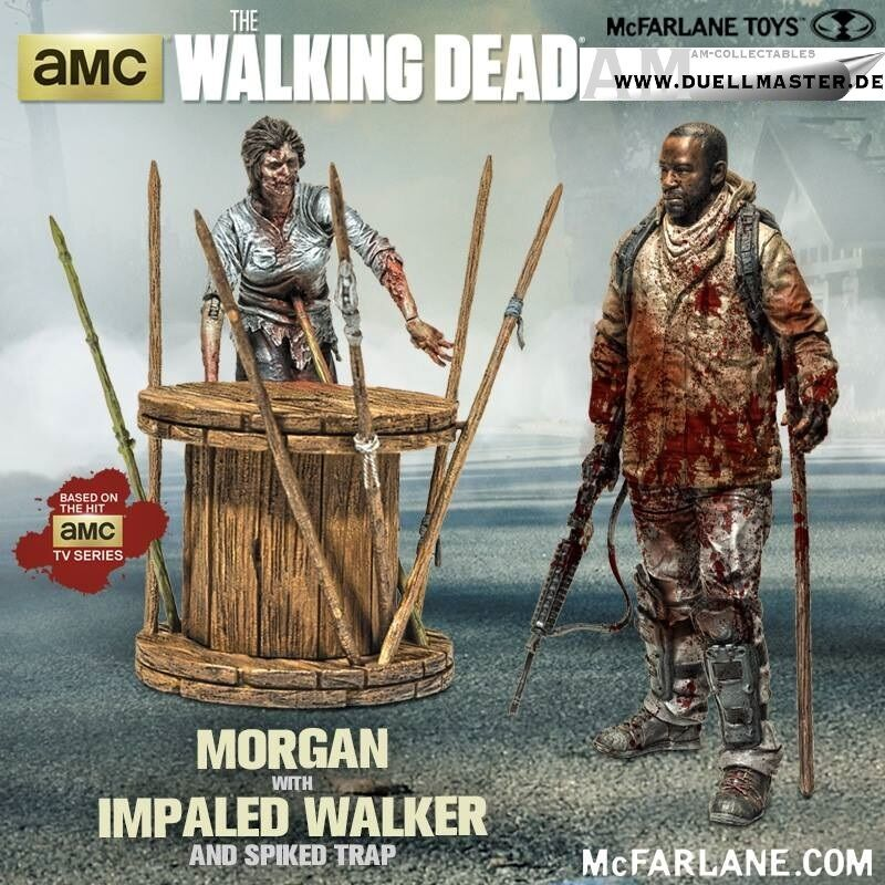 McFarlane Walking Dead TV - Morgan with Impaled Walker & Spiked Trap Deluxe Box
