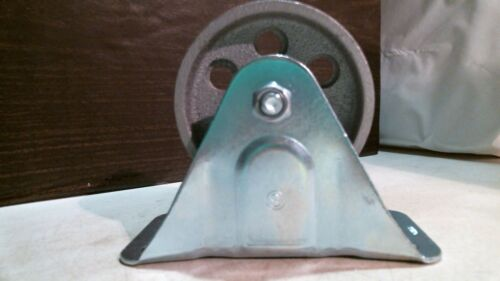 "Shepherd 9783 4/"" Cast Iron Wheel Rigid Plate Caster FREE SHIPPING"