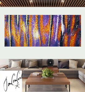 Large mangrove Dreaming Art Painting Abstract original COA By Jane Aboriginal