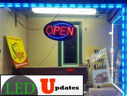 LEDUPDATES 40ft Bright Blue STOREFRONT WINDOW LED LIGHT 5050 UL 12v Power