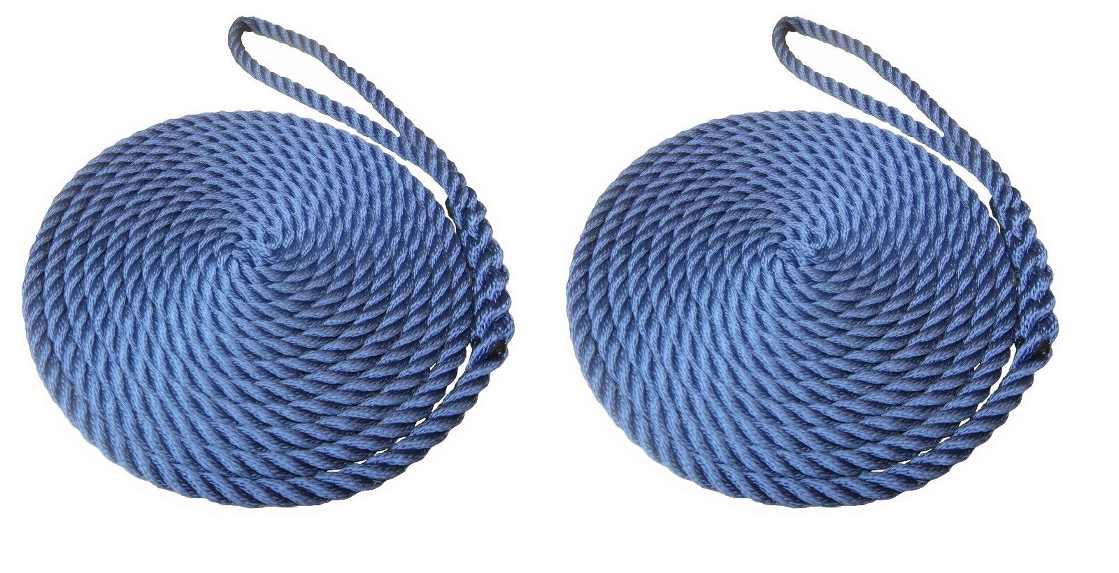 2 x 15 MTS OF 12MM NAVY blueE SOFTLINE MOORING ROPES   WARPS   LINES BOATS