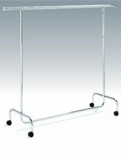 Rollstaender-Kleiderstange-Kleiderstaender-Ladeneinrichtung-Garderobenstaender-Neu