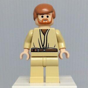 LEGO-Star-Wars-Episode-3-sw0162-Obi-Wan-Kenobi-Minifigure-w-Headset-from-7661