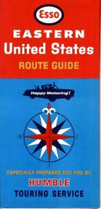 Details about 1966 Esso Road Map: Eastern United States Route Guide NOS