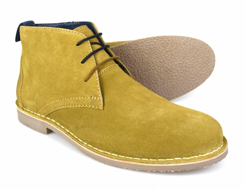Catesby Sandy Tan Suede Mens Desert Boots P662 UK 7-12 Free UK P&P!