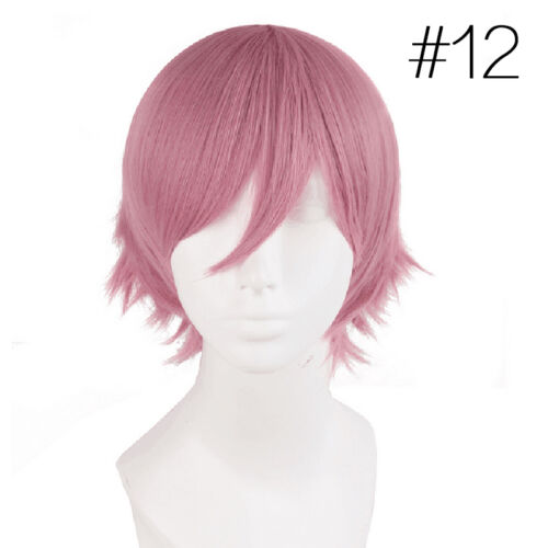 14 Farben Mode Damen Herren Kurz Kostüm Show Lolita/&Cosplay Party Wig Perücke