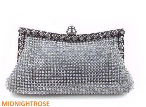 nero oro strass cristallo con e con in diamanti da argento sera Pochette wqFRZzc