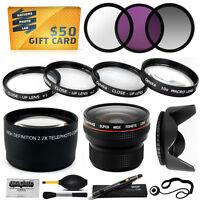 15pc Macro + Fisheye + Telephoto + Filters For Canon Powershot Sx1 Sx10 Sx20 Is