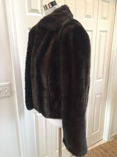 Taylor Ann Jacket Loft 10 Faux Fur Brun Excellent Short ZdndqzxwP