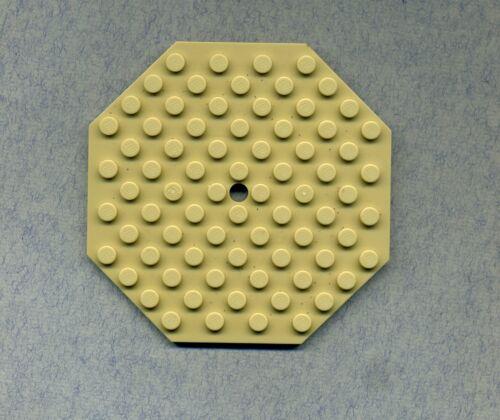Lego-- 89523 Octagonal --10 x 10 Zentrum mit Loch Tan/Beige