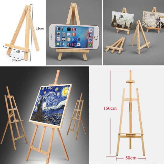 A2 Wooden Picture Frame Table Stand Pine Easel Art Table Picture Display Stand