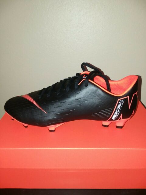 new arrivals 5743f bb644 Nike Vapor 12 Pro FG Mens Soccer Cleats Black Total Orange AH7382-081 Sz 7