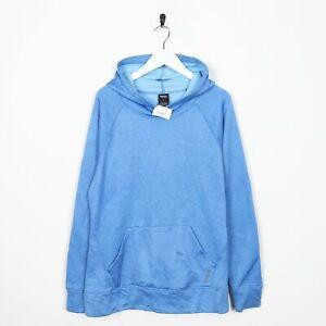 Inclinarse De Verdad Derecho  Vintage REEBOK Small Logo Polyester Hoodie Blue Large L   eBay