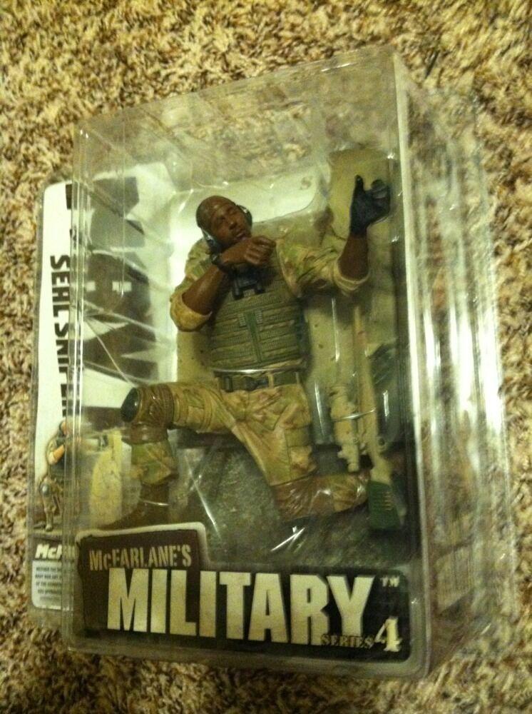 McFarlane's Military Series 4 NAVY Seal Sniper African American American American Figure MISP  d30eb3