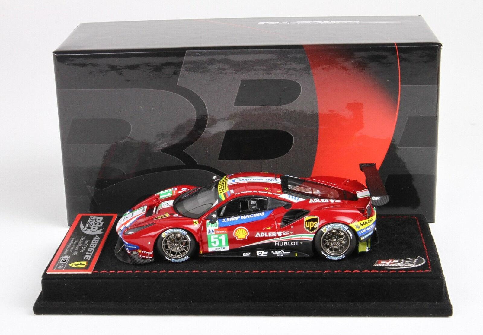 Ferrari 488 gte 24h Le  Mans 2018 voiture 51 1 43 lim.ed.016 120 bbr213 BBR  haute qualité