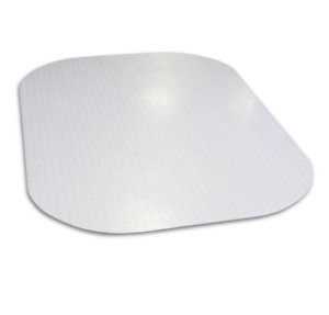 Evolve Modern Shape 45 in. x 60 in. Clear Rectangle Office Chair Mat 161923