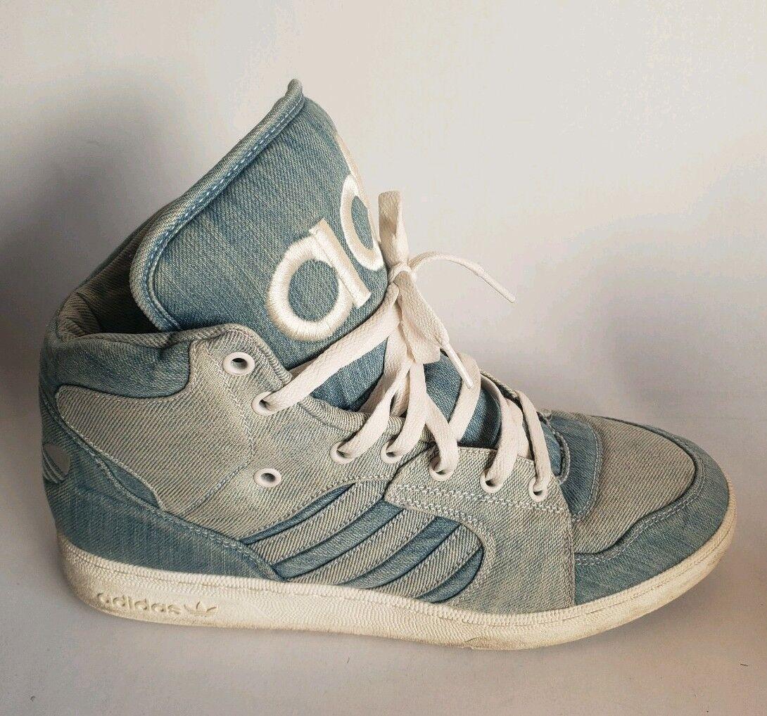 Adidas Jeremy Scott Instinct Hi Denim Men's shoes Size 12