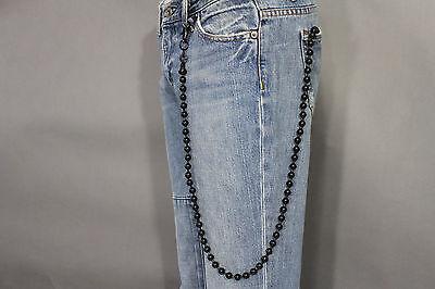 Men Black Metal Long Wallet Chains KeyChain Biker Jeans Balls Charms Punk Rocker
