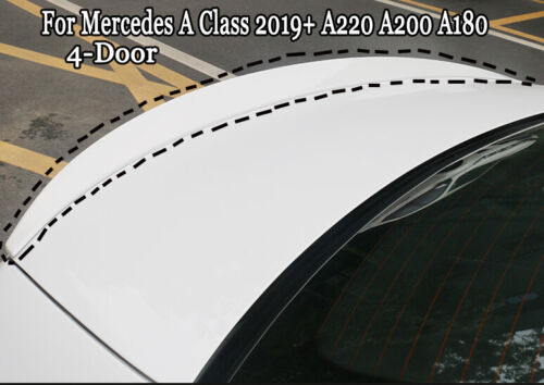 Rear Glossy Whiite Spoiler Wing Lip Fit For BENZ A Class 2019 A220 A200 A180