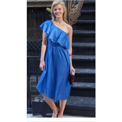 BNWT ZARA DENIM  DRESS WITH ASYMMETRIC FRILL BLOGGERS FAV.  REF. 5520/042
