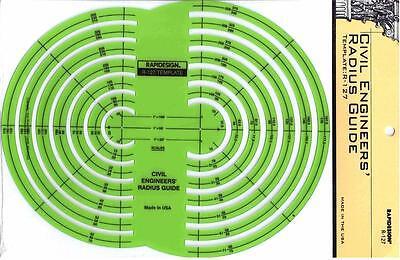 R-75 Berol Rapidesign Template Radius Guide