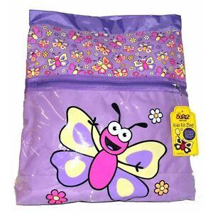 Promo Bugzz Kids Purple Butterfly School Kit Bag Childrens Girls