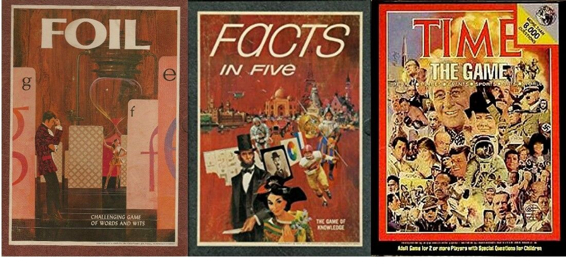 3M Bookshelf Games - FOIL, Facts in Five & & & Time Magazine Trivia Game - Vintage 9264a1
