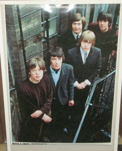 ROLLING STONES RARE NEW POSTER MID 2000'S VINTAGE COLLECTABLE LONDON 65 JAGGER