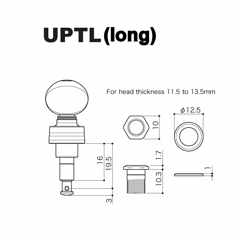 Gotoh UPT uptl plantary Ukelele máquinas máquinas máquinas de sintonización 49ceb3
