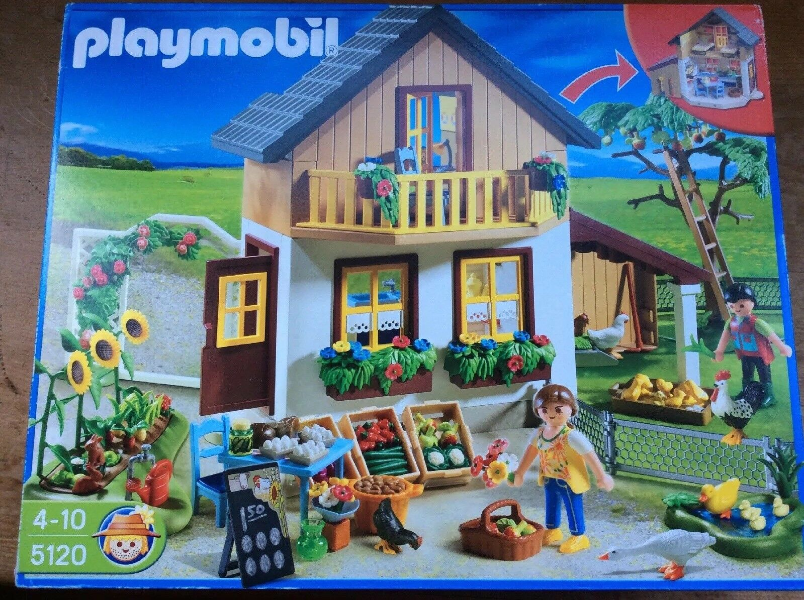 Playmobil 5120 Farm House with Shop Brand New In Box Rare