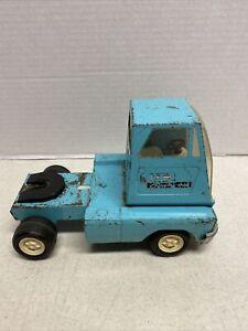Vintage-Original-Steel-1960-s-Tonka-Toy-Truck-Trailer-Cab-Rare-Blue