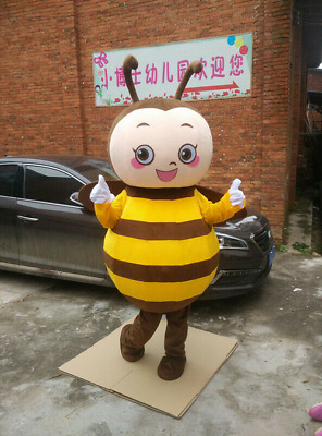 Advertising Bee Hornet Mascot Costume Suits Adults Cosplay Party Game Dress 2019