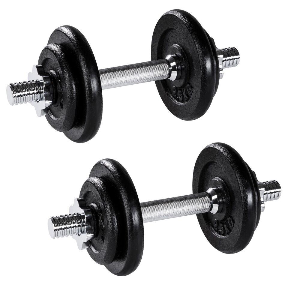 Andet, 2 Håndvægte forkromet 2 x 10 kg