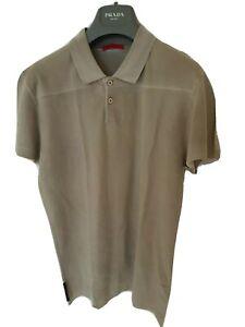 Mens-uber-chic-PRADA-short-sleeve-polo-shirt-Size-small-RRP-210