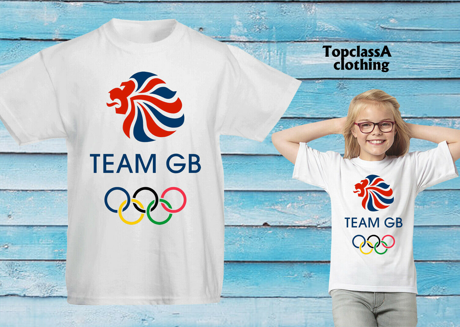 OLIMPIADI Great British Sports GB GRAN BRETAGNA CHAMPIONS PALESTRA Play giorno Kids T Shirt