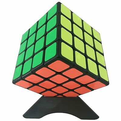 100% Vero Shengshou Wind / 4 Layers Magic Cube Puzzle - Black Facile Da Riparare