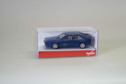 1:87 Herpa 033336 Audi Quattro azul-Met. mercancía nueva//embalaje original