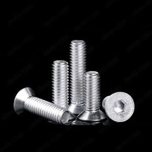 M6 M8 M10 Alloy Steel Flat Head Socket Cap Screws Allen Bolts Hex Drive DIN7991
