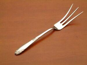 Lunt Sweetheart Rose Pickle Fork 2-Tine Sterling Silver Flatware
