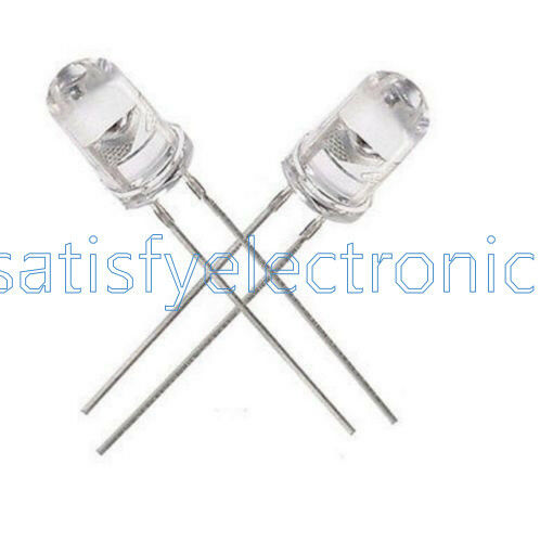 100PCS 5 mm Round Blue Water Clear Lampe DEL Diodes Kit