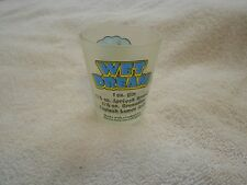 Padre Island Texas Frosted Shot Glass Wet Dream Recipe
