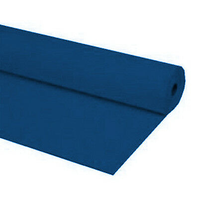 "Slate Blue 40/""x150 ft Heavy Duty Banquet Roll Plastic Table Cloth"
