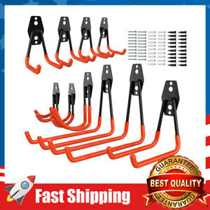 10-Pack Steel Garage Storage Utility Double Hooks, Heavy Duty for Organizing