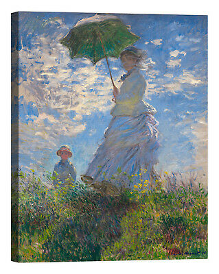 Claude Monet Régate a Sainte Adresse Stampa su tela Canvas effetto dipinto