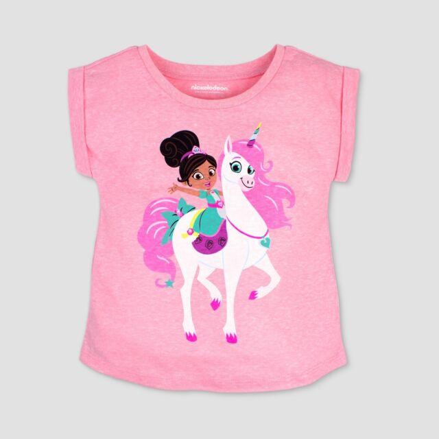 db4218e56 Nella the Princess Knight Toddler Girls Nickelodeon Unicorn Pink T-shirt NWT