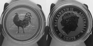Australia-1-2-oz-50-cents-2005-Silver-Year-Of-The-Rooster-Lunar-I