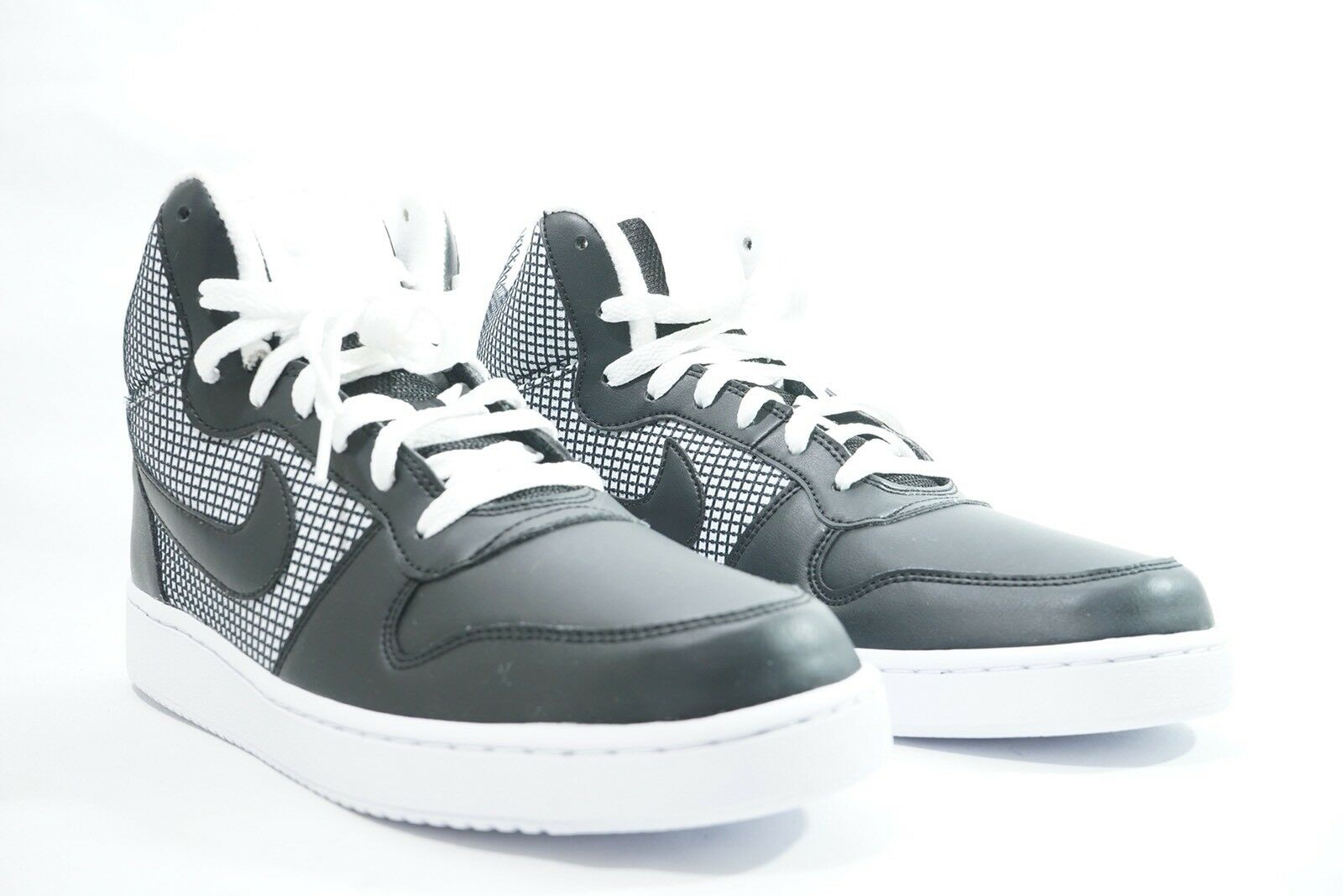 Nike Black/white Court Borough Mid 916793-100 Wmns Shoes Black/white Nike Sz 11 DISPLAY PIECE c579e0