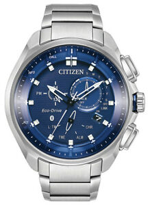 Citizen-Eco-Drive-Men-039-s-Proximity-Pryzm-Bluetooth-48mm-Watch-BZ1021-54L
