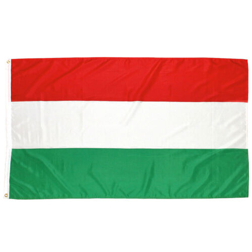 MFH Flag 90x150cm National Country Festival High quality with Eyelets Hungary