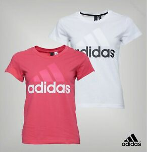 Ladies-Adidas-Large-Print-Logo-Slim-Fit-Short-Sleeve-T-Shirt-Sizes-from-4-to-22